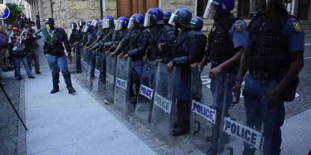 South African Police Service (SAPS) members were deployed to 10111 call centres during the strike.