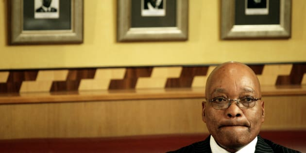 President Jacob Zuma in a quiet moment after appearing in the Durban High Court, after the National Prosecuting Authority dropped all charges against him, April 7, 2009.