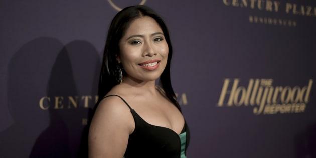Yalitza Aparicio en la noche de los nominados al Oscar 2019 de The Hollywood Reporter en el Beverly Wilshire Hotel.