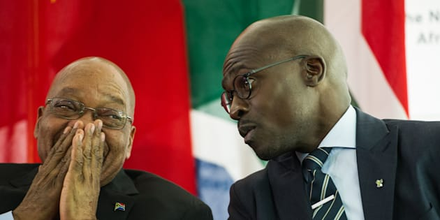 President Jacob Zuma and his minister of finance Malusi Gigaba.