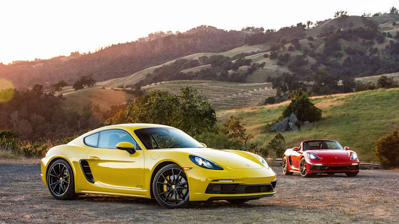 2018 Porsche 718 Boxster Cayman Gts Road Test Review Autoblog
