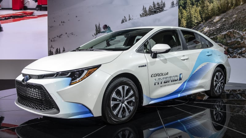 2020 Toyota Corolla Hybrid and sedan fuel economy revealed