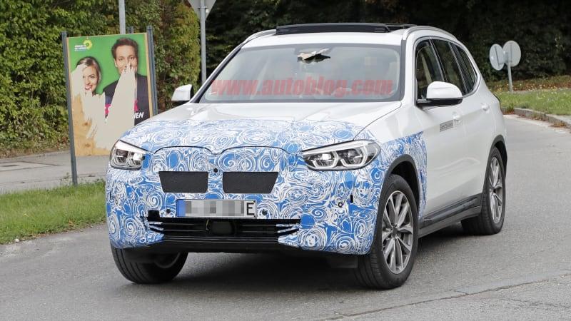 Spy photos: BMW iX3 electric crossover - Autoblog