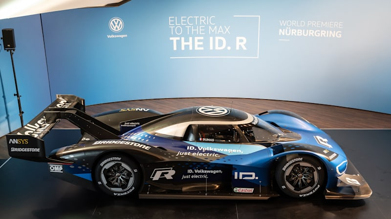 VW ID. R in testing at the Nürburgring for EV record attempt [UPDATE]