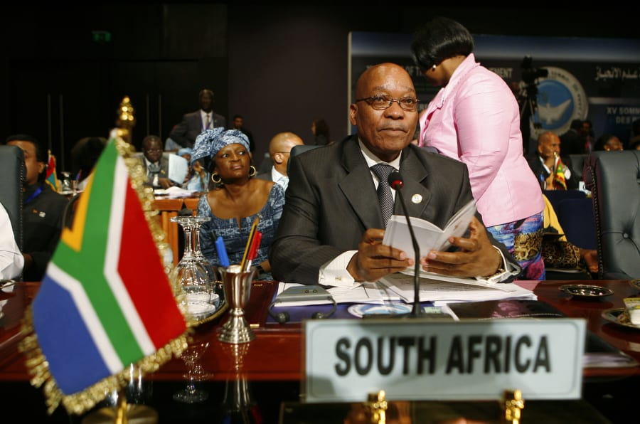 South Africa's President Jacob Zuma attends the Non-Aligned Movement (NAM) summit in Sharm el-Sheikh July 15, 2009.