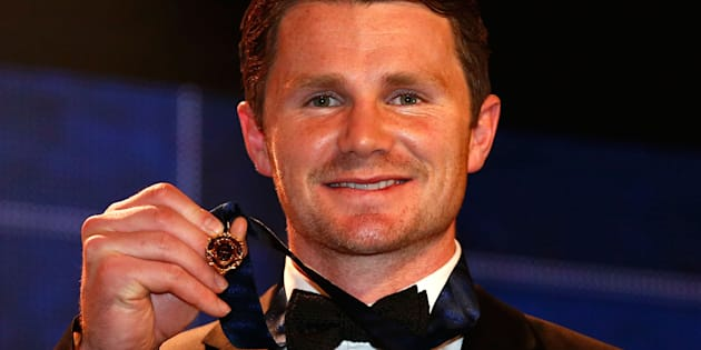 Last year's Brownlow winner Patrick Dangerfield is ineligible in this year's count following a one-week suspension for a controversial tackle.