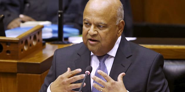 Finance Minister Pravin Gordhan delivers his 2016 Budget speech to parliament.