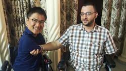 """ガザにも、車椅子先生がいた。乙武洋匡が""""二人〇脚""""の対談で得たもの"""