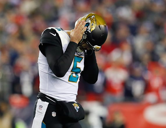 Bortles seen crying on sideline after loss to Pats