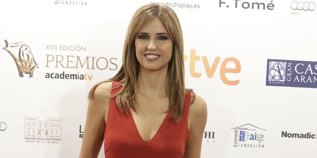 La presentadora Sandra Sabatés durante los Premios Iris de la Academia de la Televisión.
