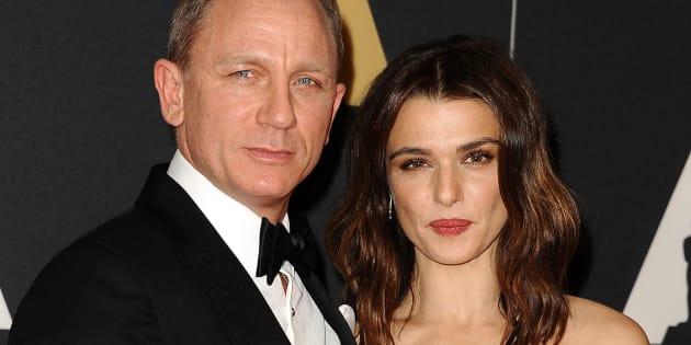 Rachel Weisz with husband and current James Bond, Daniel Craig.