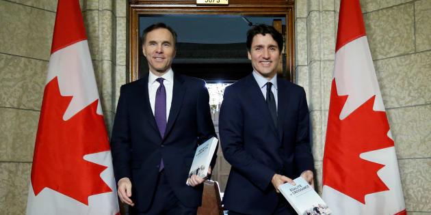 Photo d'archives de Bill Morneau et Justin Trudeau.