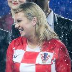 La principal aficionada de Croacia es su presidenta Kolinda