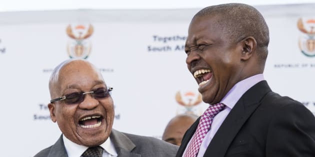 President Jacob Zuma with David Mabuza: the ANC boss and a possible contender for the position.