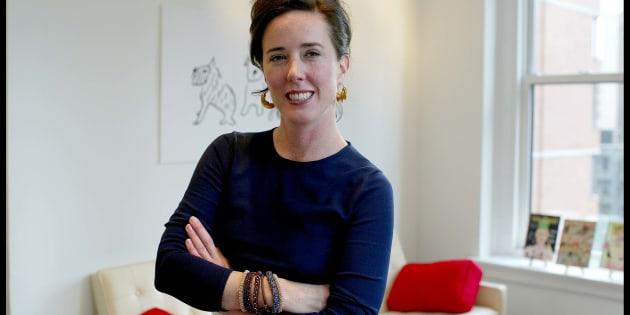 Retrato de la diseñadora Kate Spade en sus oficinas.