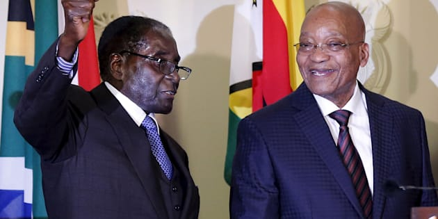 Robert Mugabe and Jacob Zuma.