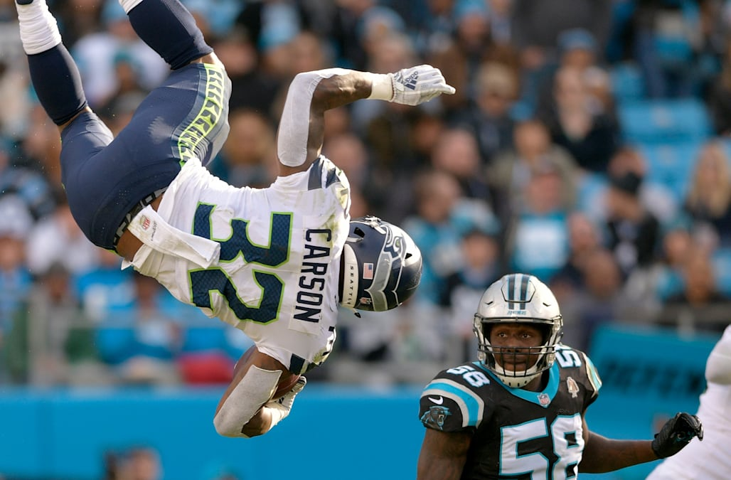 Image result for chris carson flip
