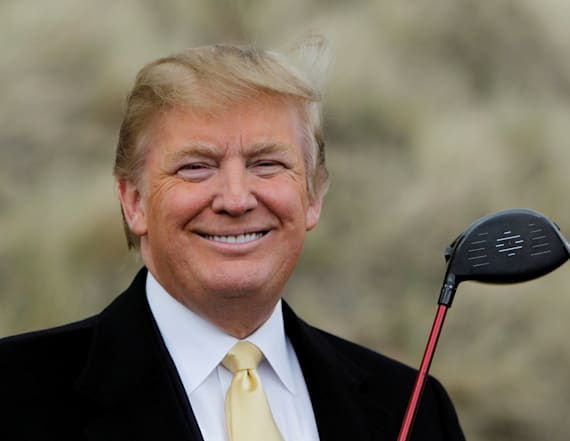 Trump insists he 'couldn't care less' about golf