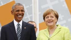 En visite chez Merkel, Obama vole la vedette à Trump (et le tacle