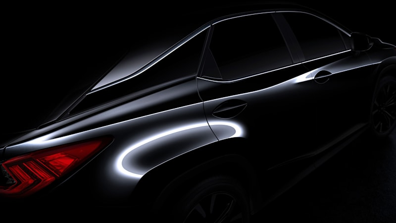 2016 Lexus RX teased ahead of NYC show