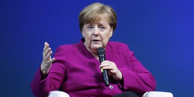 Angela Merkel, este viernes.