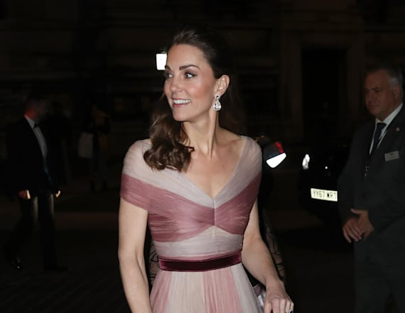 Kate Middleton dazzles in a pink Gucci gown