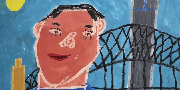 Alexander Bennett's award-winning portrait of his mate Jihan.