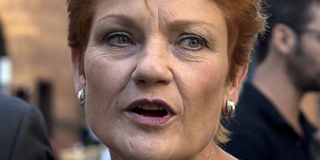 Pauline Hanson's not a fan of halal snack packs.