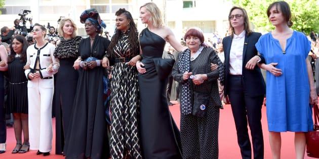 Même après #MeToo, il y a encore moins de réalisatrices à Hollywood (photo: des femmes réalisatrices et actrices sur le tapis rouge de Cannes, en mai 2018).
