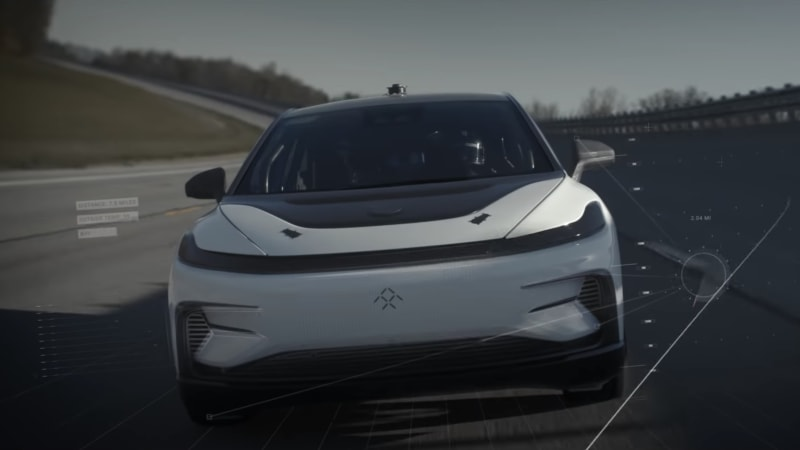 Watch Faraday Future's high-speed FF91 field tests