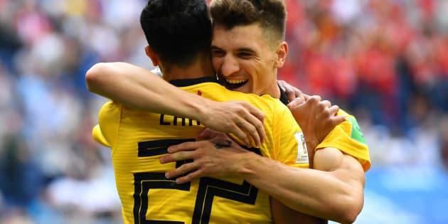 Meunier comemora gol que abriu caminho para conquista da 3ª colocação da Copa à Bélgica.