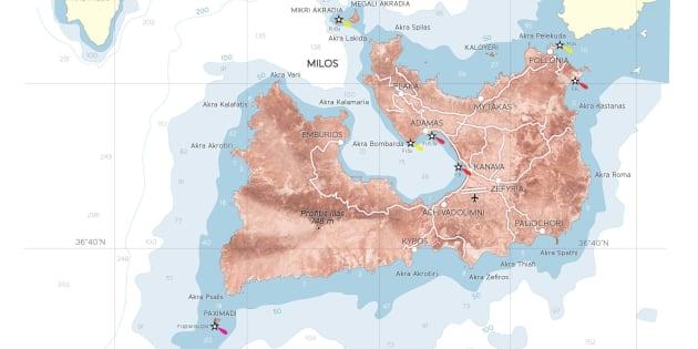 (L'isola di Milos, nel Mar Egeo)