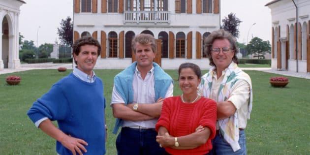Carlo, Gilberto, Giuliana et Luciano Benetton.