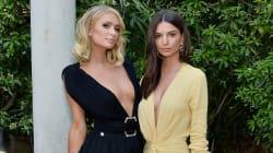 Paris Hilton et Emily Ratajkowski optent pour le décolleté plongeant sur tapis