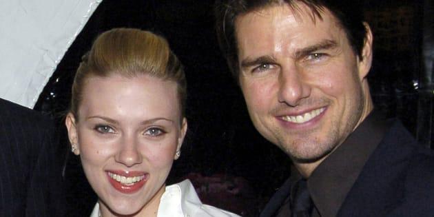 Scarlett Johansson et Tom Cruise lors d'un gala de charité à Los Angeles.