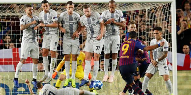 Barcelone Inter La Malice De Marcelo Brozovic Sur Le Coup Franc