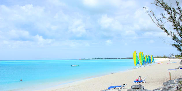 Le sable fin des Bahamas.