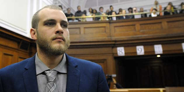 Henri van Breda is pictured in court prior to Judge Desai reading out the judgment in the Western Cape High Court on May 21, 2018  in Cape Town, South Africa.