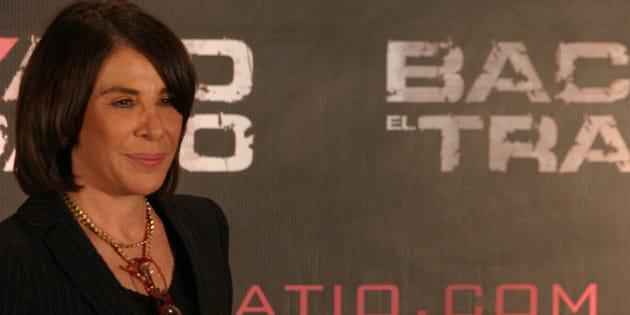 Sabina Berman en conferencia de prensa en Ciudad de México, el 18 de febrero de 2018.