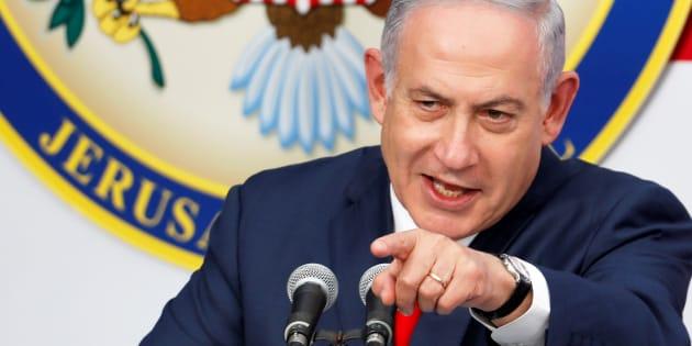 El primer ministro de Israel, Benjamin Netanyahu, en la inauguración de la embajada estadounidense en Jerusalén.