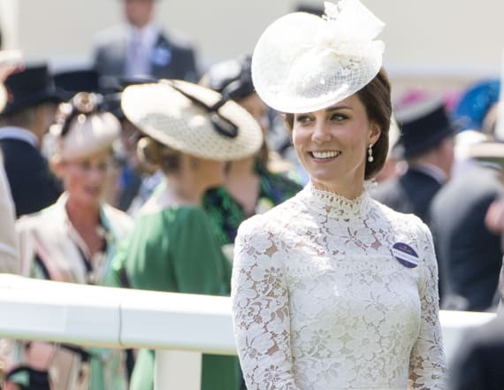 Duchess Kate looks lovely in white lace (again!)