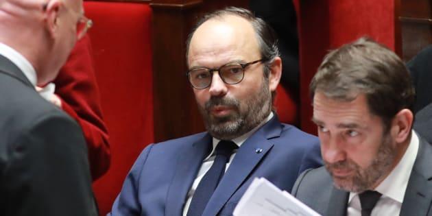 Edouard Philippe et Christophe Castaner à l'Assemblée nationale le 21 février.