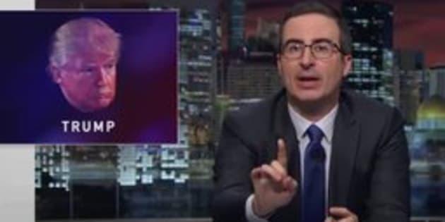 """John Oliver on """"Last Week Tonight."""""""