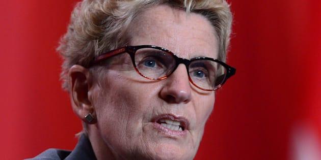 Ontario Premier Kathleen Wynne, seen speaking at news conference at the First Ministers meeting in Ottawa on Oct.3, 2017., said that she's taking another step towards a defamation lawsuit against Ontario Opposition Leader Patrick Brown.
