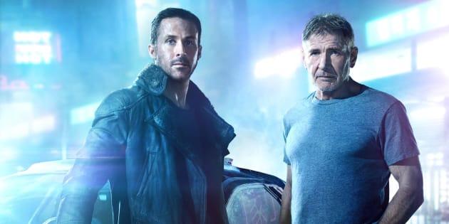 Ryan Gosling e Harrison Ford interpretam Agente K e Deckard, respectivamente