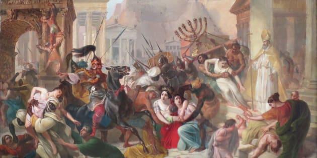Saqueo de Roma por los vándalos, de Karl Briulov.
