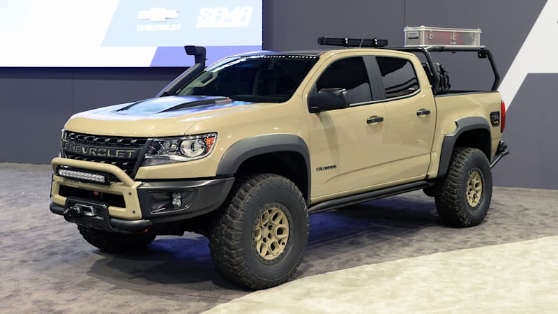 Chevy Colorado ZR2 AEV and Race Development trucks roll ...