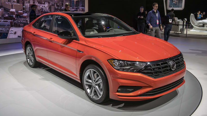 2019 volkswagen jetta redesigned and revealed at detroit auto show autoblog. Black Bedroom Furniture Sets. Home Design Ideas