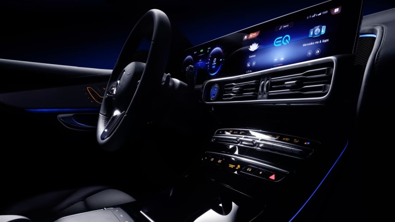 Mercedes-Benz EQC electric crossover interior teaser video ...