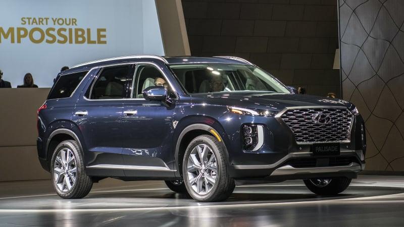 hyundai palisade suv debuts   largest hyundai  built autoblog